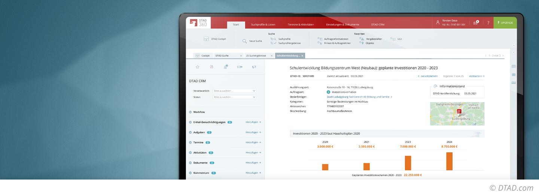 Mit DTAD 360 nehmen Sie maximalen Einfluss auf Beschaffungsvorhaben